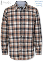 Jack Murphy Glen Long Sleeve Shirt in Cocoa Umber Check
