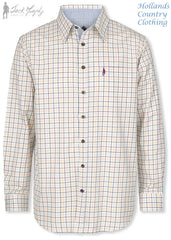 Jack Murphy Glen Long Sleeve Shirt in Meadow Sweet Tattersall Check