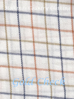 gold check Sherwood Forest Field Tattersall Check Shirt all cotton