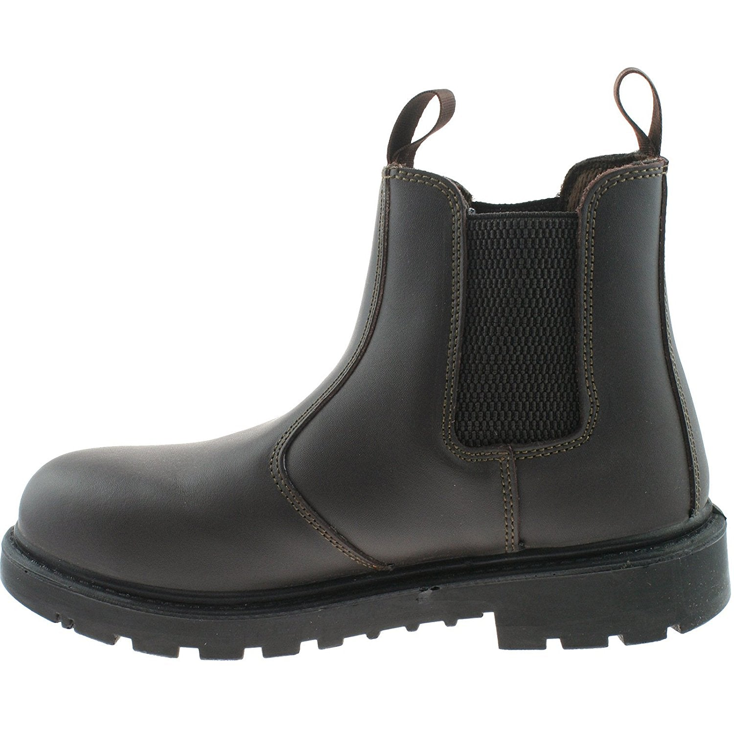 elastic gusset safety boot with steel toe