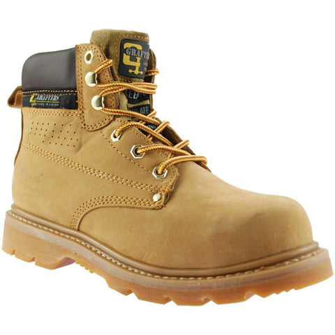Grafters Gladiator Honey Nubuck Safety Toe Cap Work Boot
