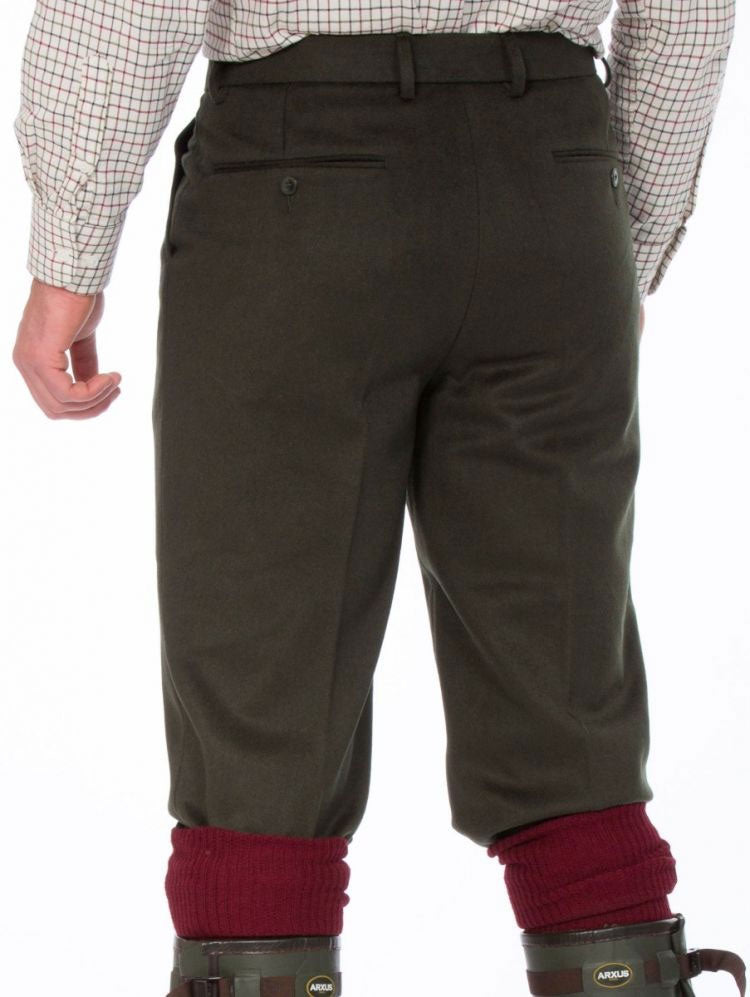 rear view with two pockets Alan Paine Men's Loden Shooting Breeks