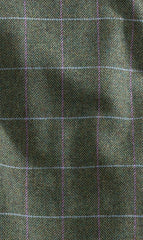green and blue tweed pattern in lambs wool for hoggs of fife