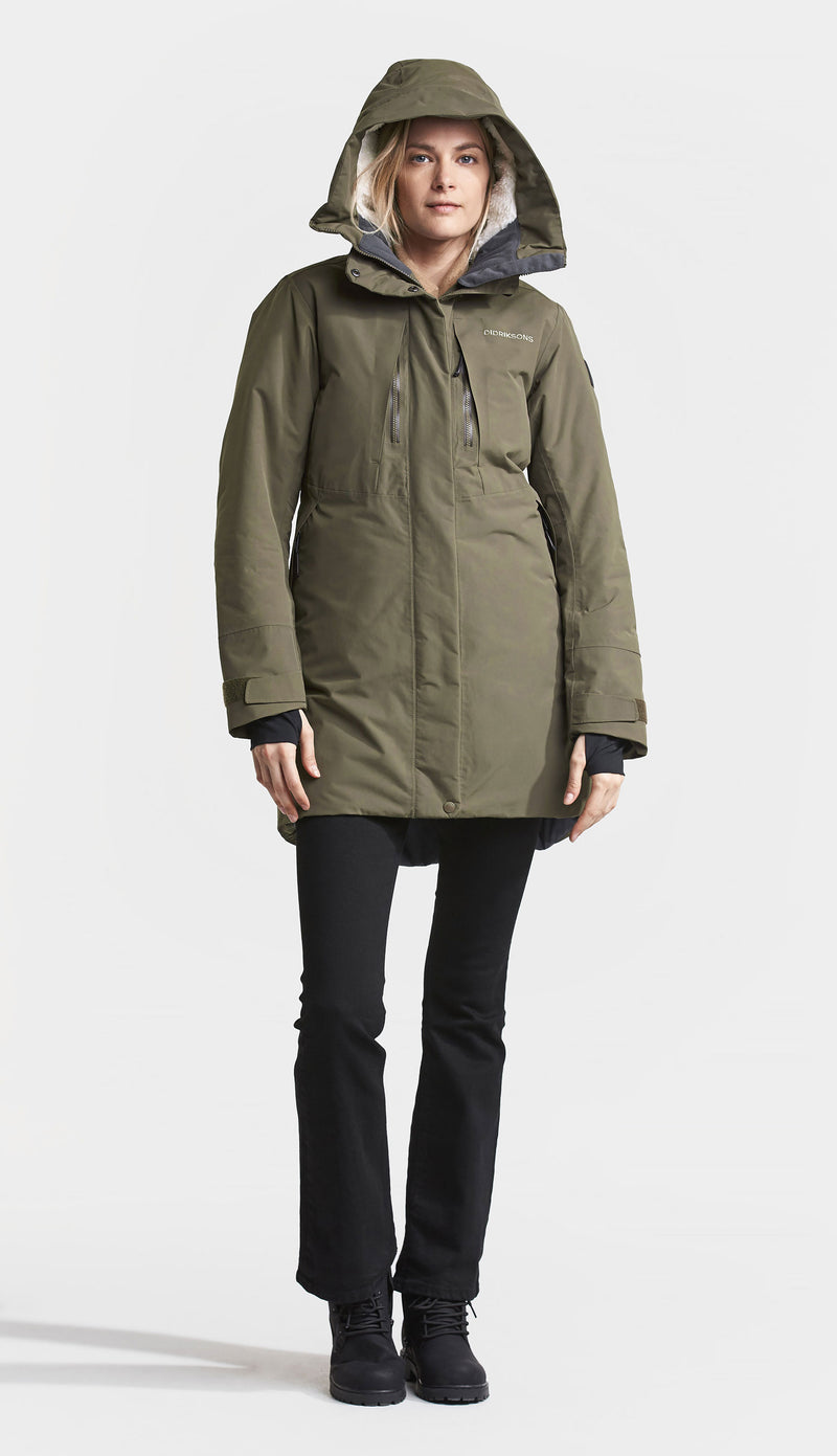 Didriksons Silje Padded Waterproof Parka cROCODILE gREEN