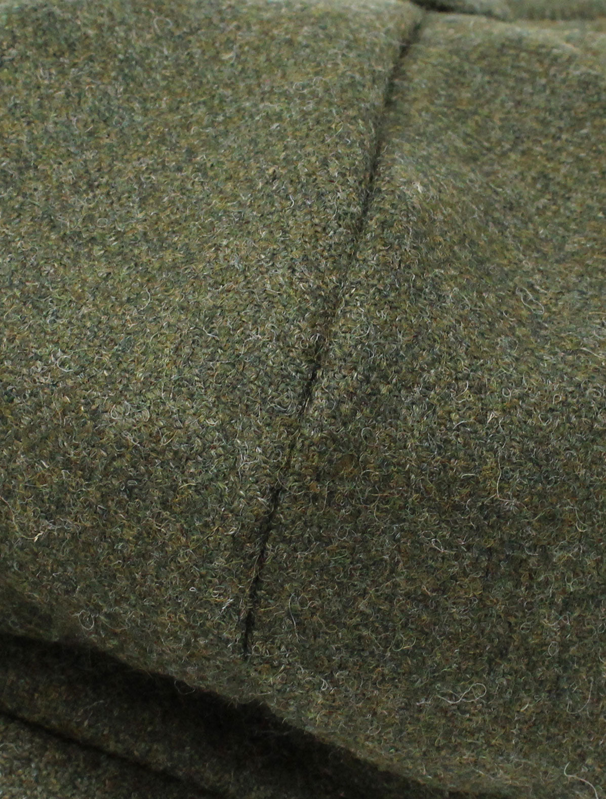 Green Donegal tweed swatch
