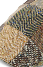 Colour; Patchwork Brown and Green, including Herringbone, Houndstooth, check and salt n' pepper patterns