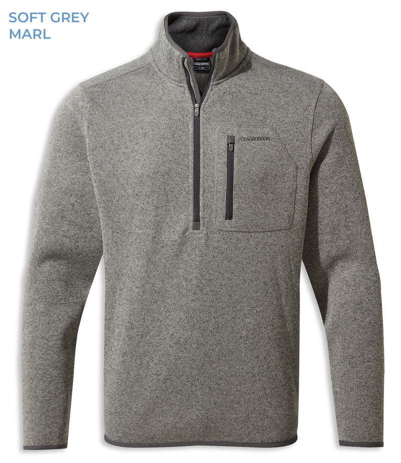 Soft Grey MArl Craghoppers Etna Half Zip Fleece