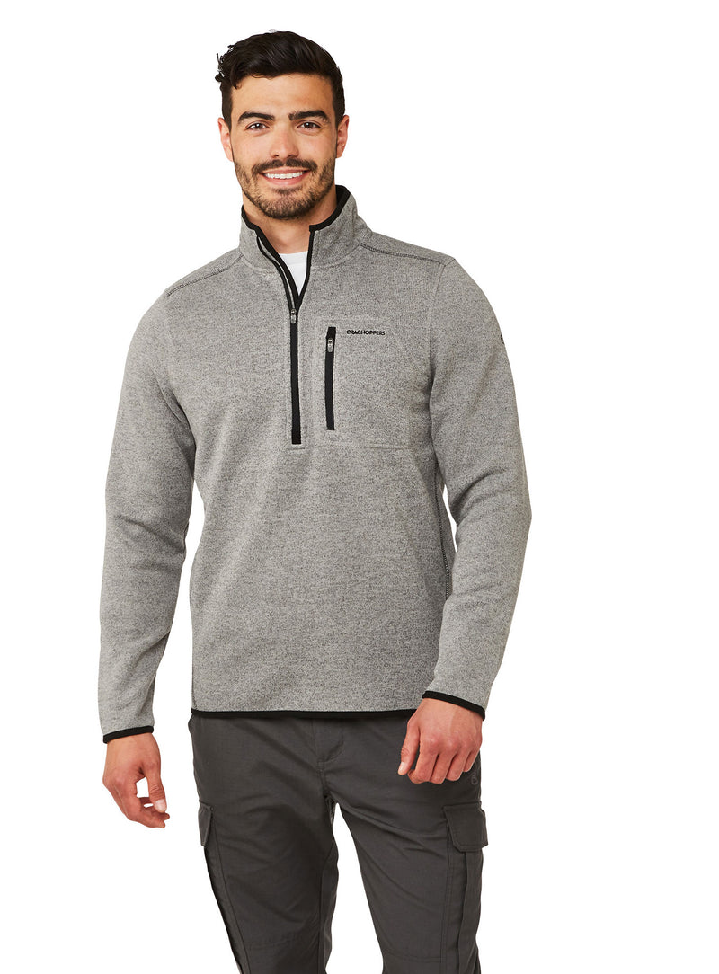 Soft Grey Marl Fleece with half zip