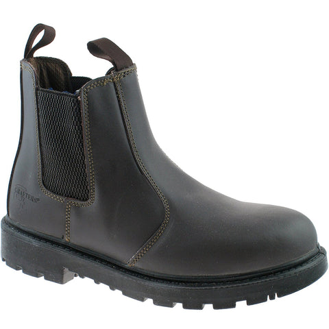 'Grinder' Grafters Safety Dealer Boot. leather upper