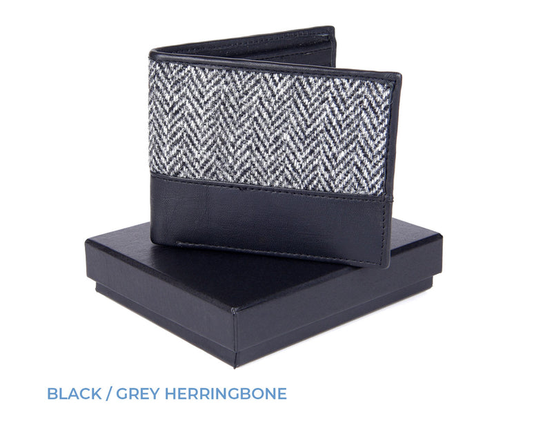 Black and grey boxed wallet