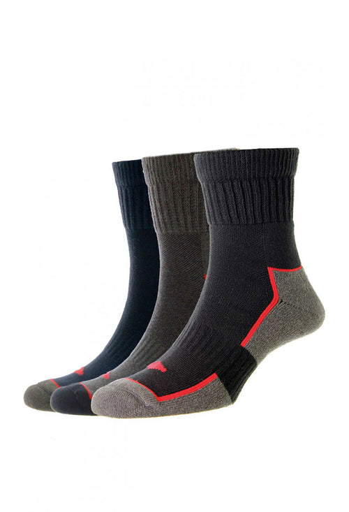 HJ Hall Short Work Sock | 3 Pack