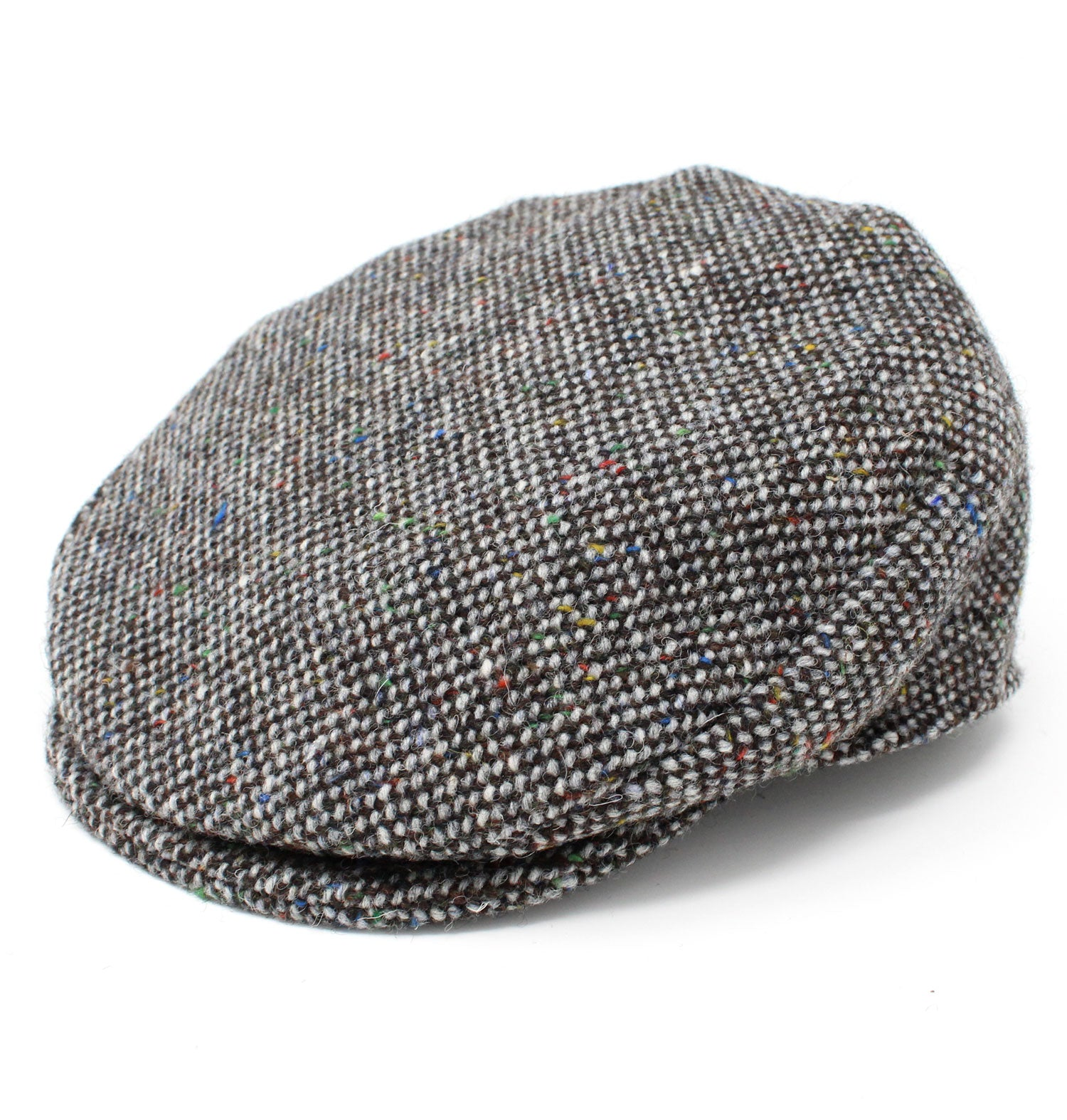 e6d618a0e3acb9 Hanna Children's Tweed Flat Cap | Grey and Brown Salt & Pepper – Hollands  Country Clothing