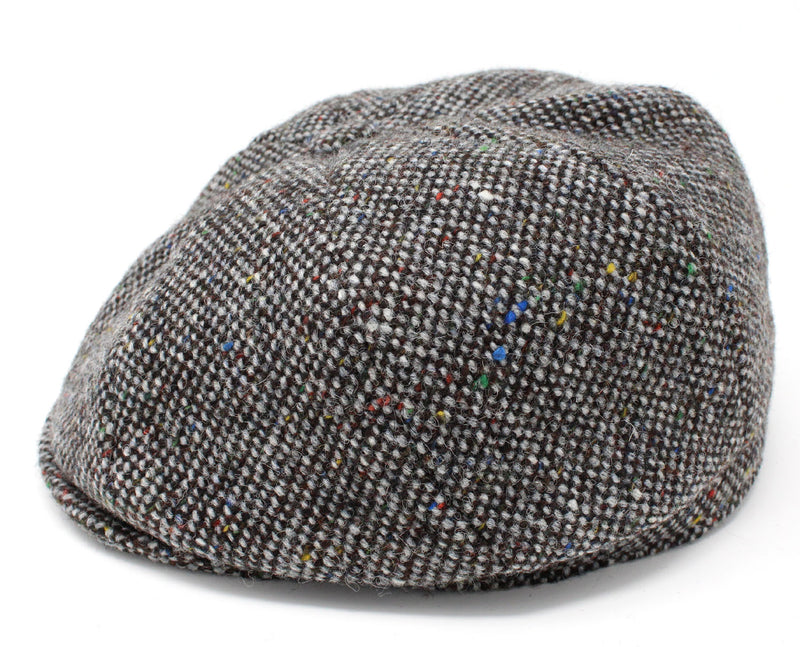 Hanna Tweed Eight Piece Newsboy Cap | Grey Salt and Pepper