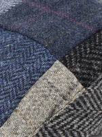 Patchwork Blue and Grey, including Herringbone, Houndstooth, check and salt n' pepper patterns