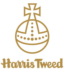 """The Orb Mark is your guarantee of genuine Harris Tweed cloth. Protected by the 1993 Harris Tweed Act of Parliament, Harris Tweed must be made from 100% pure new wool dyed, spun and hand woven at the home of the weaver and finished in the Outer Hebrides of Scotland"" www.harristweed.org"