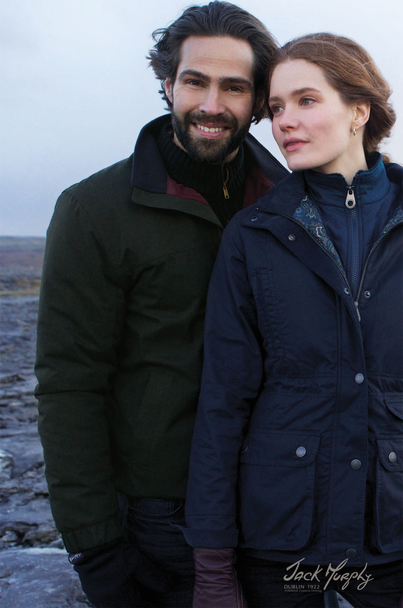 man with woman wearing Jack Murphy Harvey Waterproof Jacket