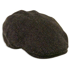 Heather Highland Harris Tweed Flat Cap | Brown Barleycorn