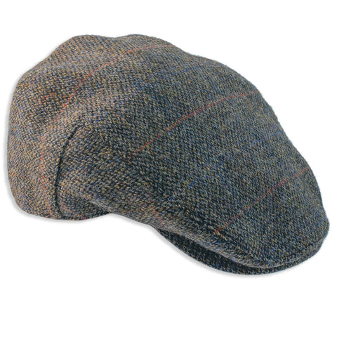 Heather Highland Harris Tweed Flat Cap | Grey
