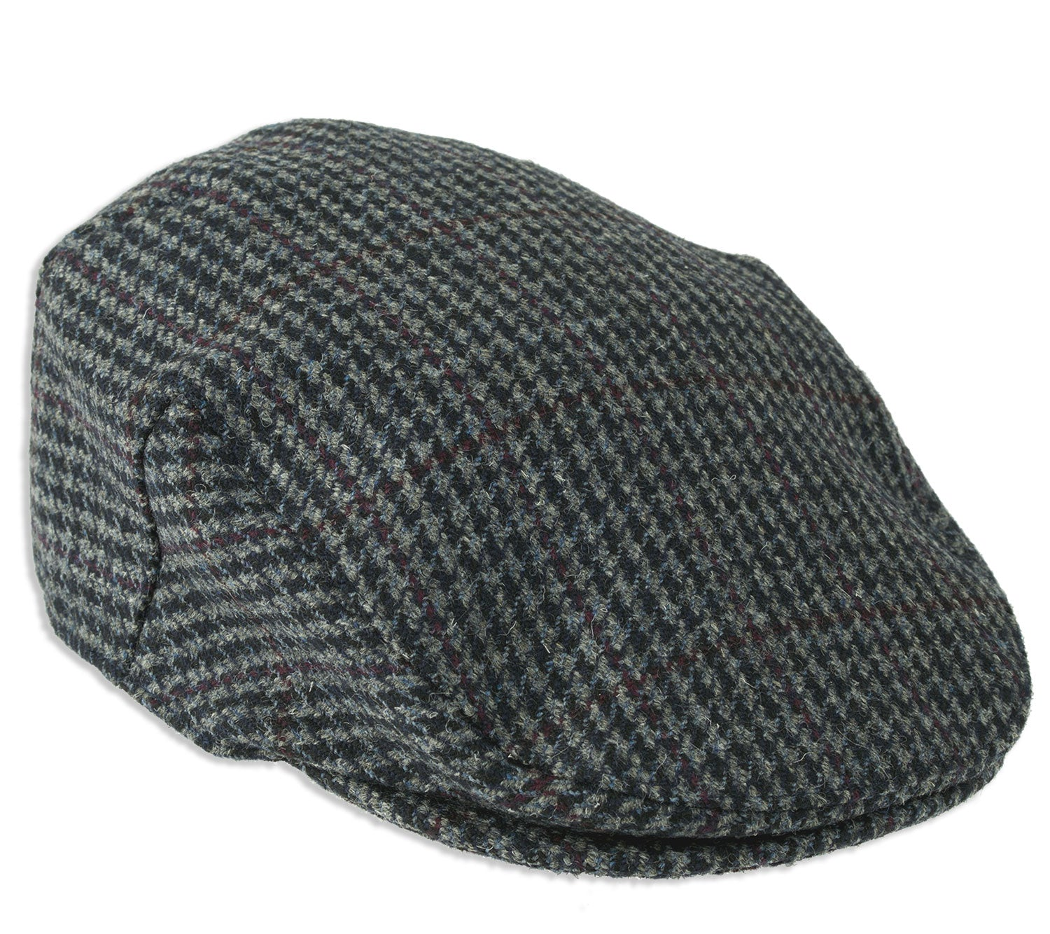 Shshetland Wool Kinloch Waterproof Tweed Flat Cap  by Heather Hats