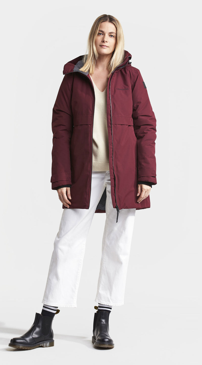 Didrksons winter parka in red