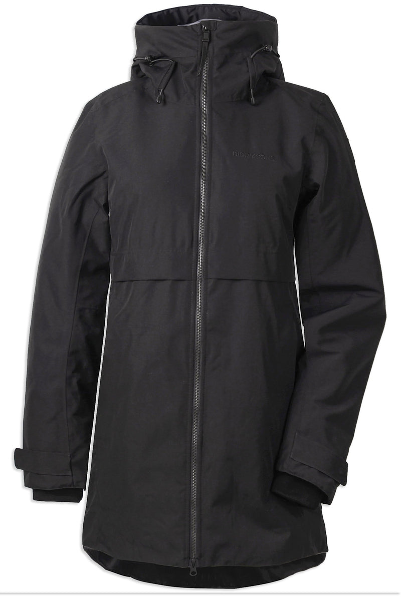 Black Didriksons Helle II Ladies Waterproof Winter Parka Coat