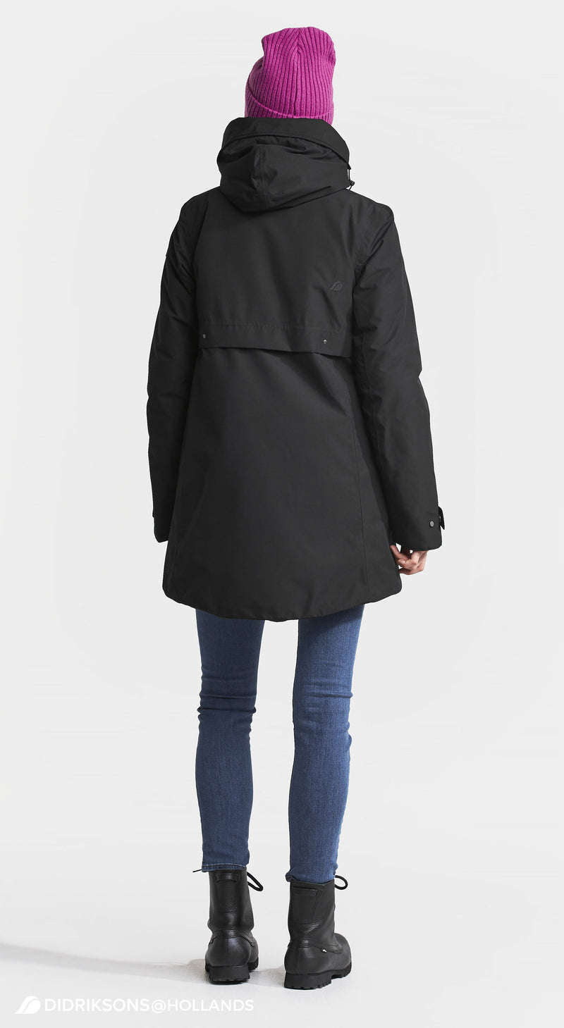 Back View Didriksons Helle II Ladies Waterproof Winter Parka Coat