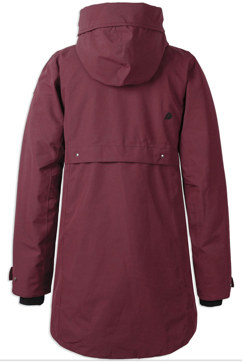 Red Back View Didriksons Helle II Waterproof Parka
