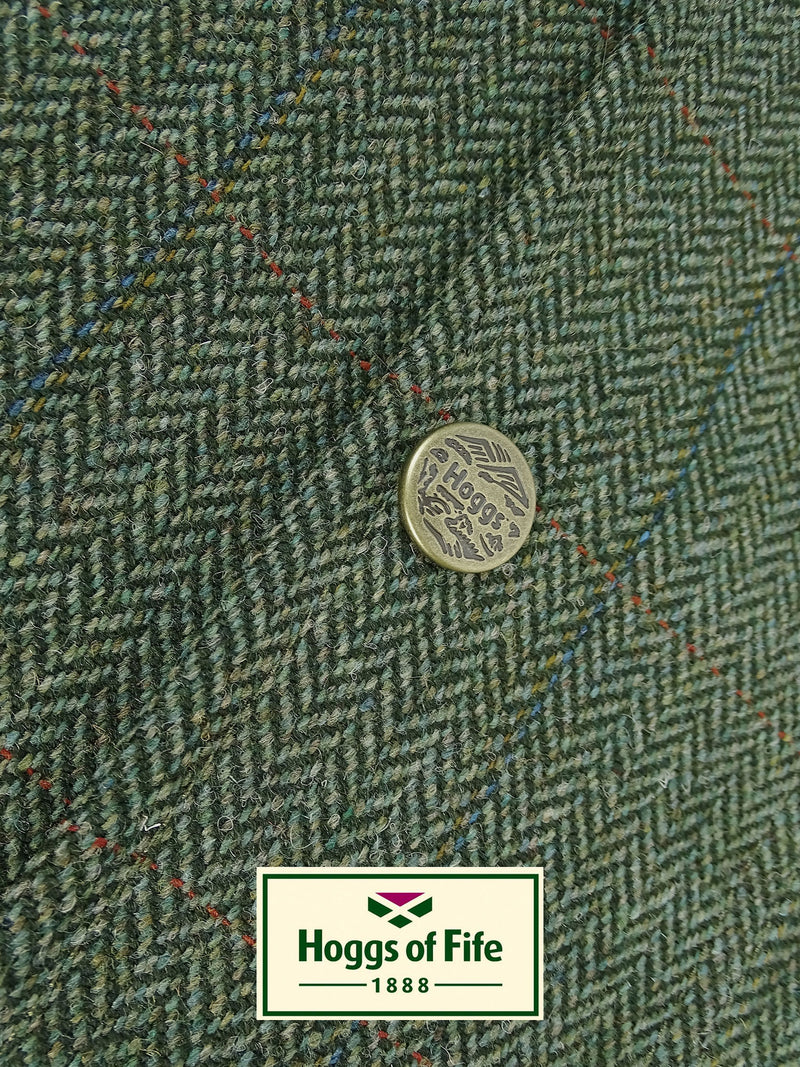 Helmsdale Tweed Green Herringbone