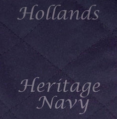 Navy waxed cotton colour swatch