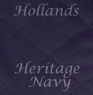 heritage navy quilted wax cotton material