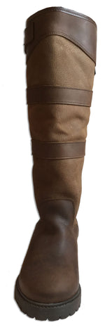 Oak/Bison Leather High Leg Country Boot