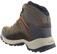 Ankle support heel view hiking boot