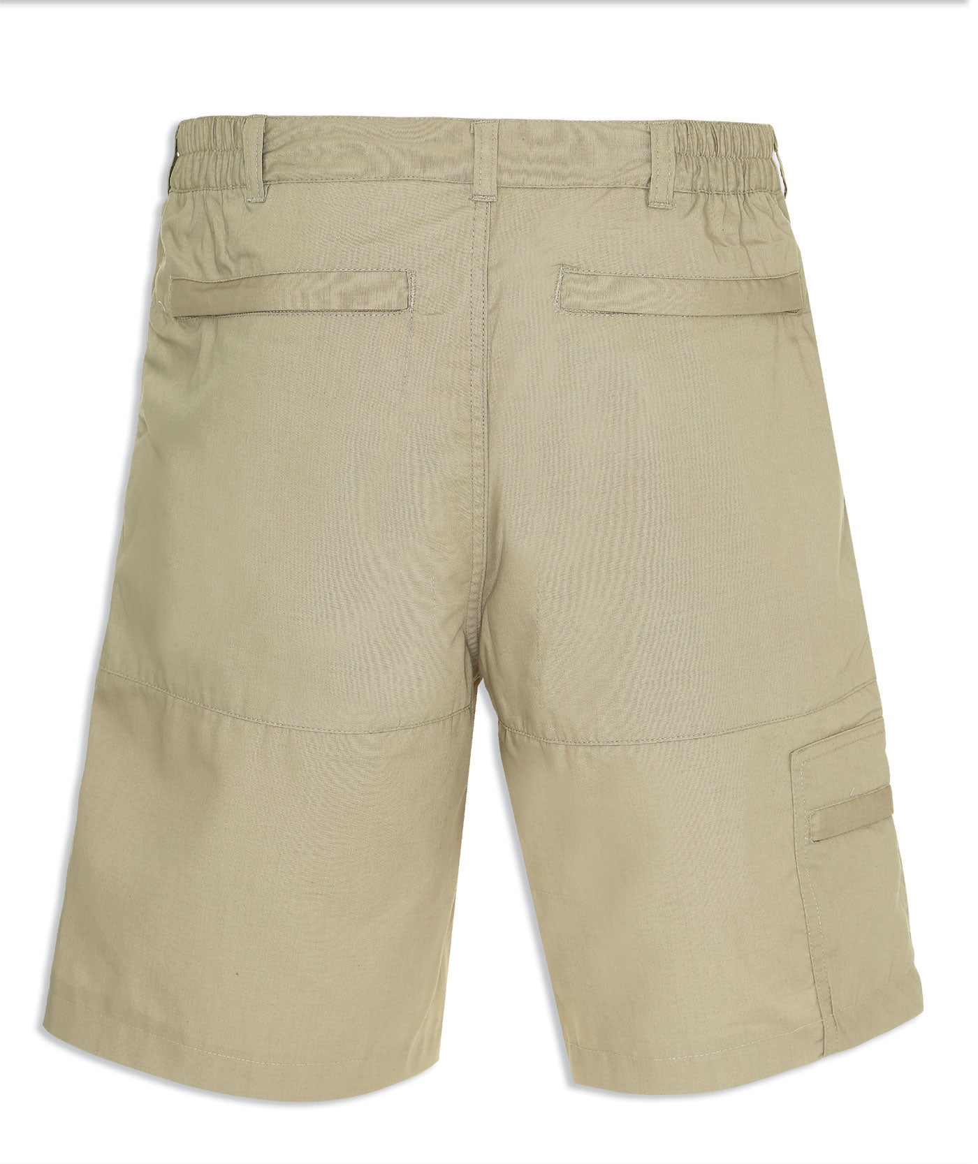 Stone outdoor shorts in stone colour back pockets