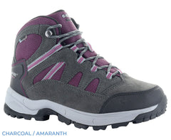 Hi-Tec Ladies Bandera Lite Waterproof Boots | Charcoal, Amaranth and Light Grey