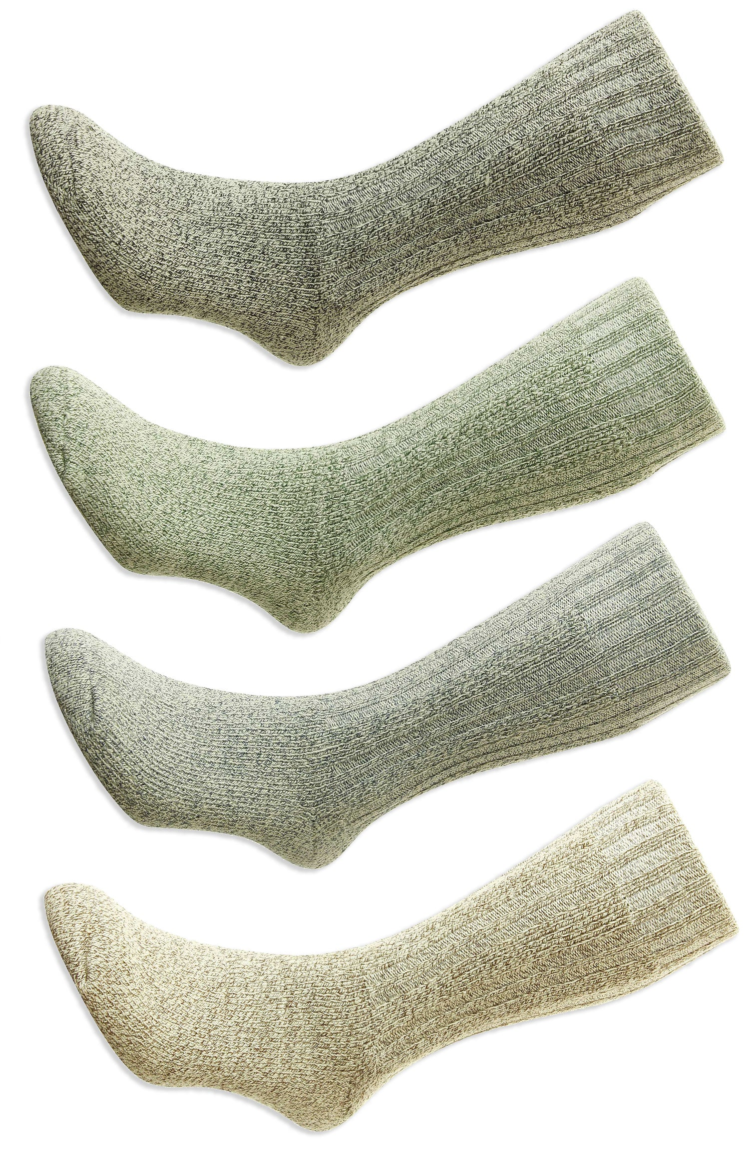 HJ Hall Cotton Rich Boot Sock. Blue, Grey , Beige,  Green