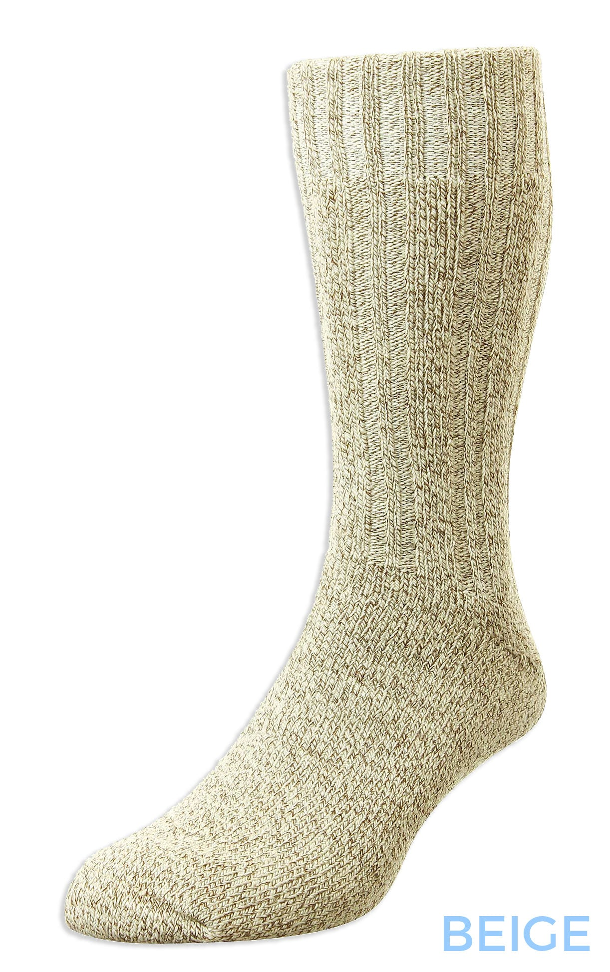 beige HJ Hall Cotton Rich Boot Sock