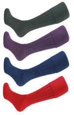 HJ Hall Cushion Foot Shooting Sock in red navy olive and heather colour