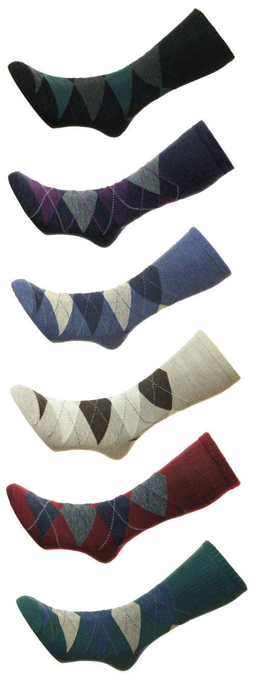 HJ Hall Argyle Softop Socks | Wool Rich - Hollands Country Clothing