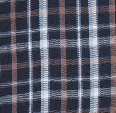 blue and brown tartan check Bark Micro Fleece Lined Shirt by Hoggs of Fife.
