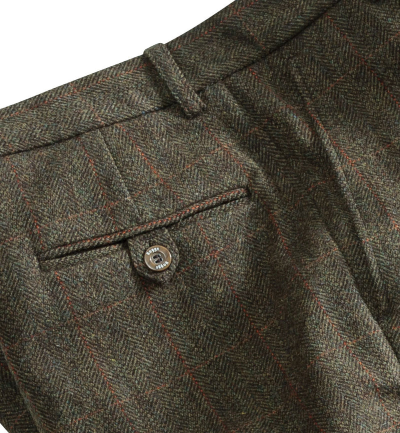 pocket button detail Hoggs of Fife Harewood Lambswool Tweed Breeks