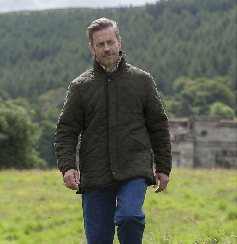 man in quilted jacket Hoggs of Fife Carlton Quilted Jacket
