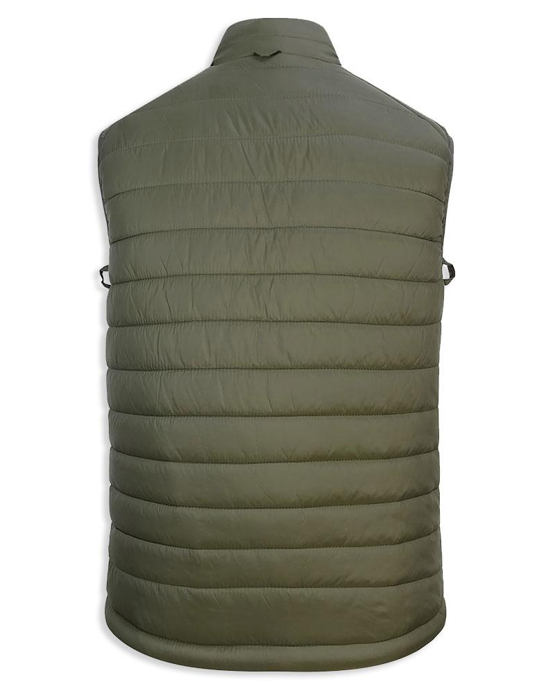 Rear view Craigmore Baffle Quilt Bodywarmer by Hoggs of Fife