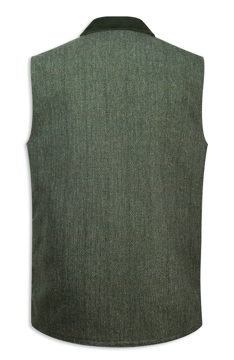 Back View Hoggs of Fife Helmsdale Tweed Waistcoat