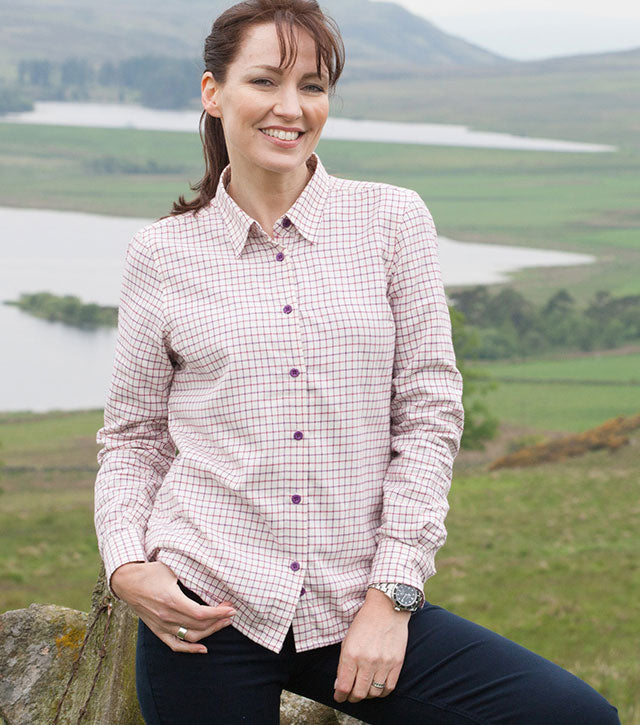 Hoggs of Fife Alba Warm Lined Tattersall Shirt