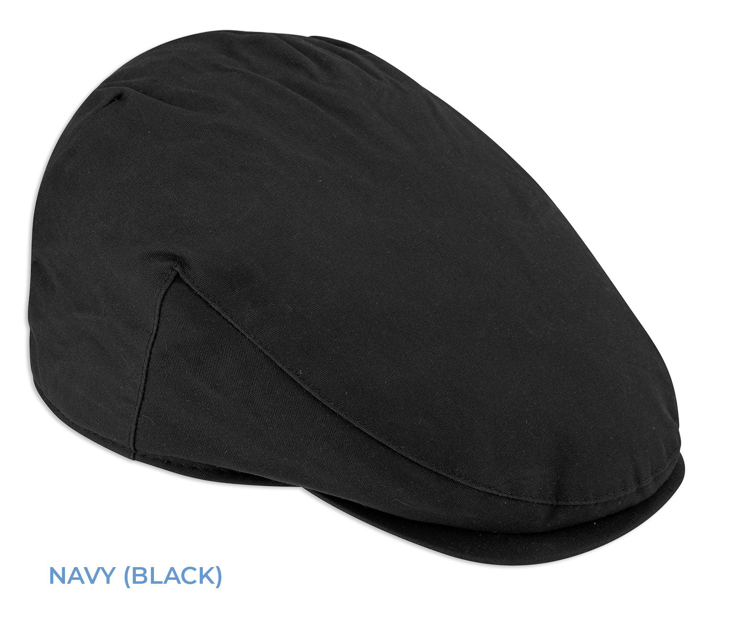 Hoggs of fife wax flap cap in navy Black