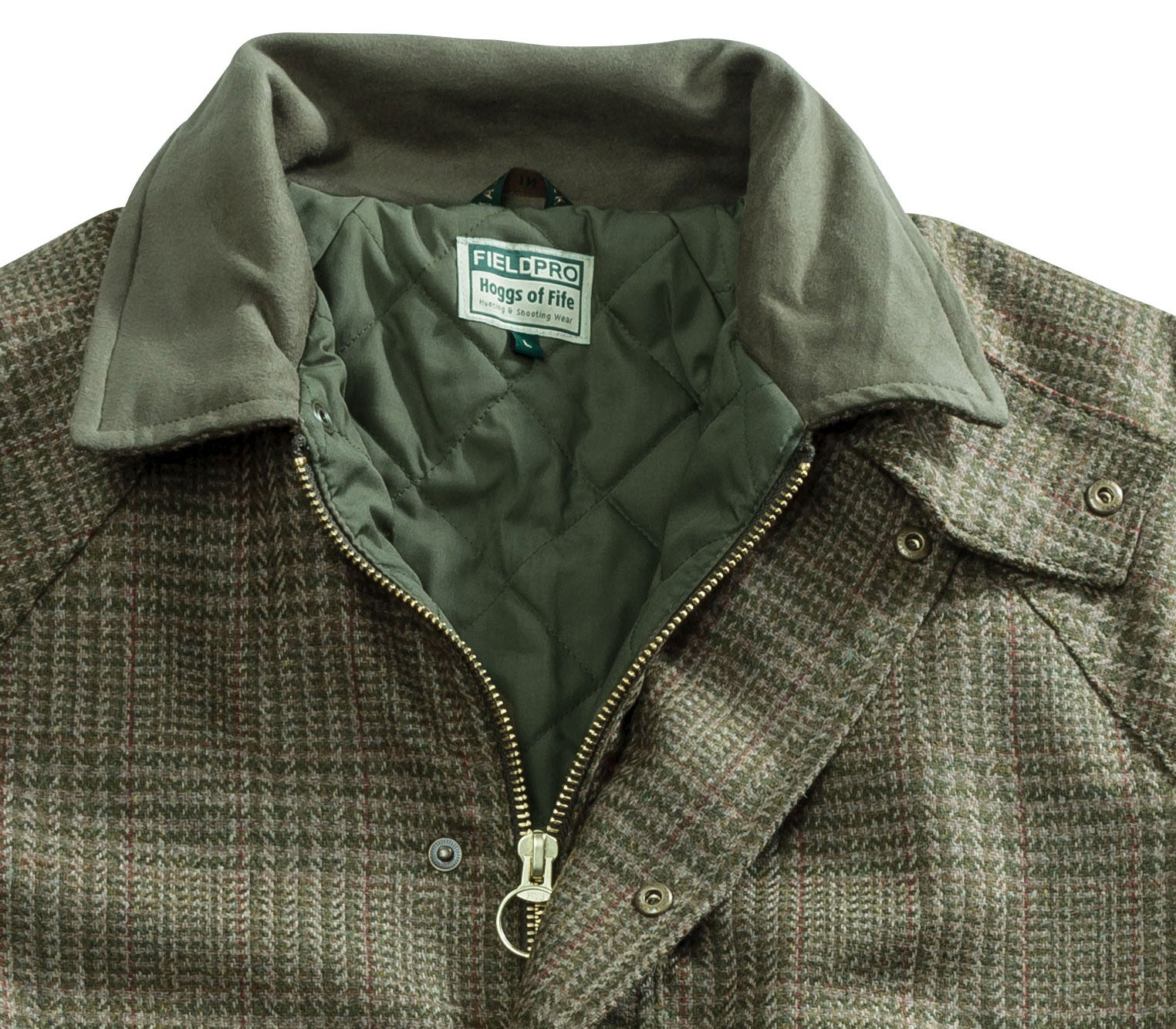moleskin collar detail Hoggs of Fife Invergarry Tweed Jacket