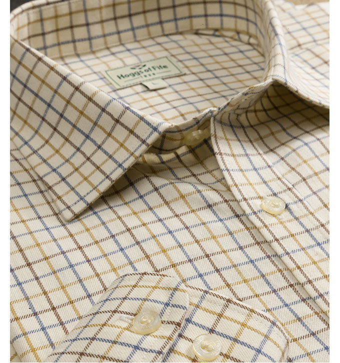 brown Hoggs 100% Pure Cotton Tattersall Check Shirts