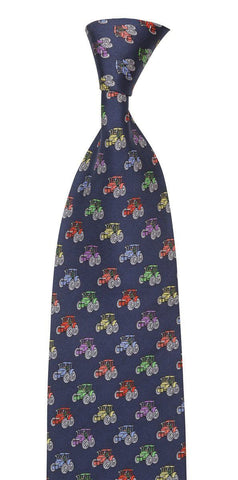 hoggs of fife blue silk track motif tie