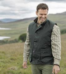Hoggs Waxed Waistcoat, a traditionally styled country wax garment from Hoggs,
