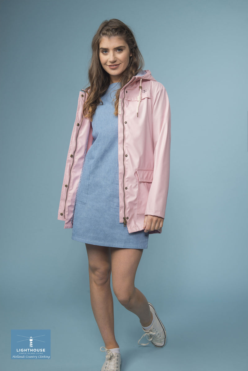worn with a skirt in ;pink and blue